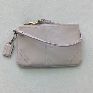 Vintage  Coach Patent Leather Lavender Wristlet